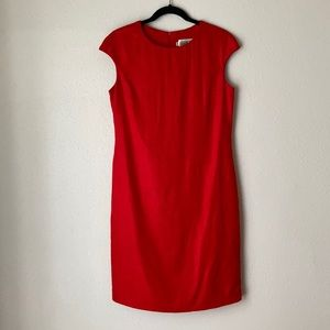 Tailored by Harlan red linen dress